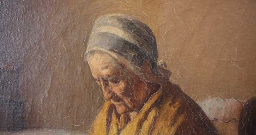 Portrait of old woman - photo 8