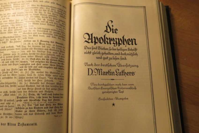 Great Old German Bible Martin Luther King -the Old Testament and the New Testament - photo 2
