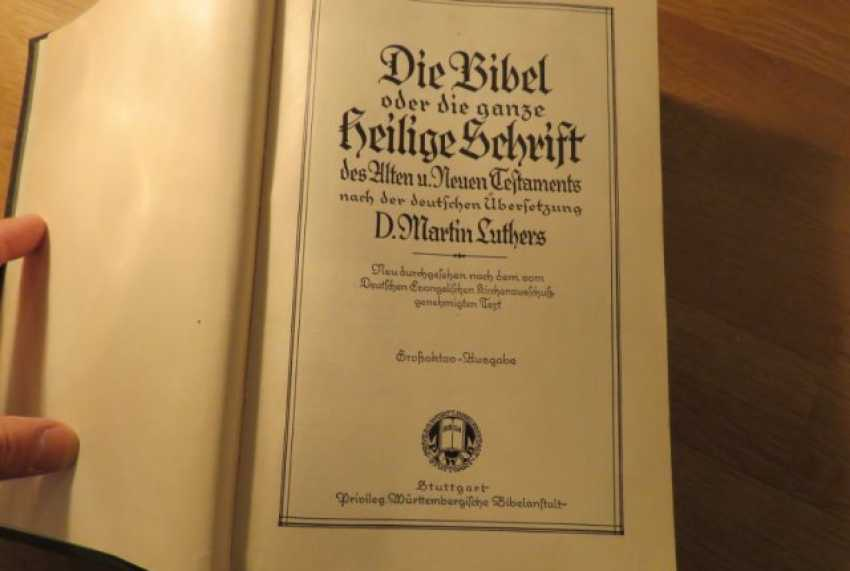 Great Old German Bible Martin Luther King -the Old Testament and the New Testament - photo 7