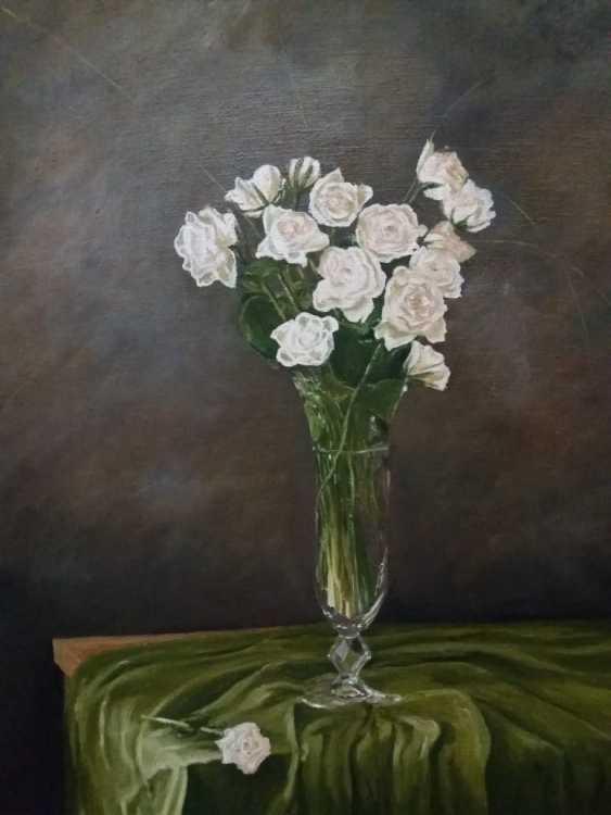 Daulet Baidybek. Still life with white flowers - photo 1
