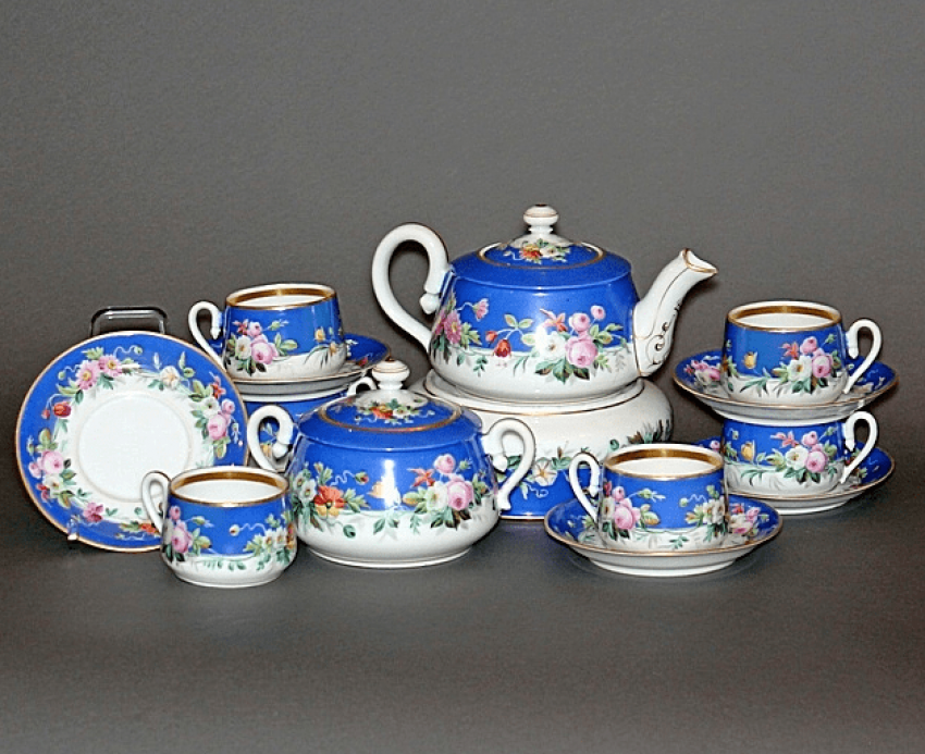 Tea set.factory Kornilov brothers ' porcelain, - photo 1