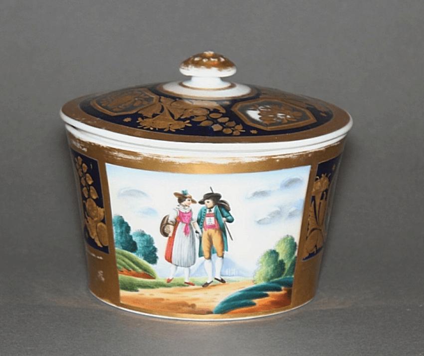 Sugar bowl. factory-Gardner porcelain - photo 1