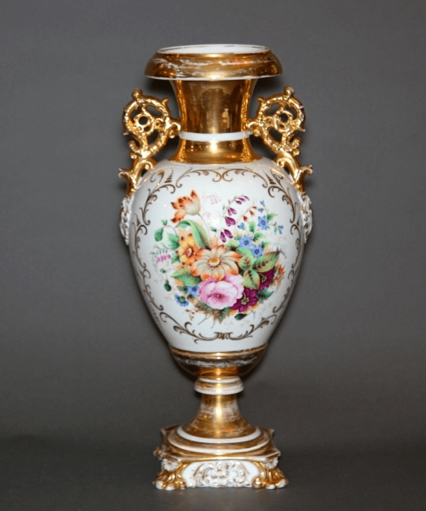 Vase , factory Kornilov brothers ' porcelain - photo 2