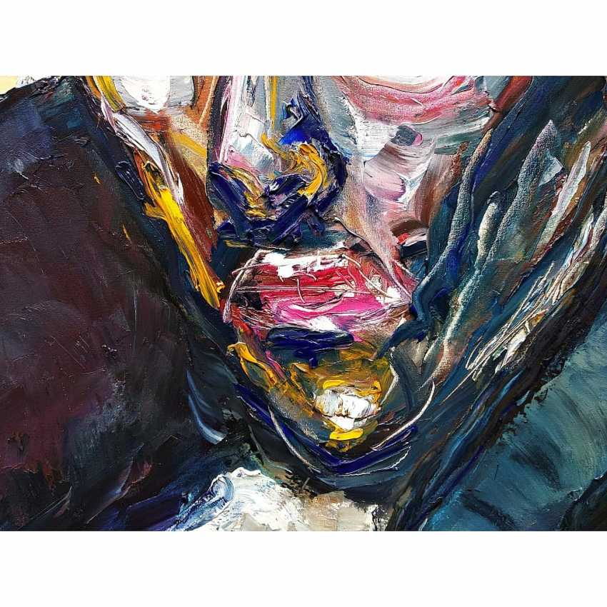 Ashot Aleksanian. Abstract - expressive spot on the basis of a portrait - photo 2