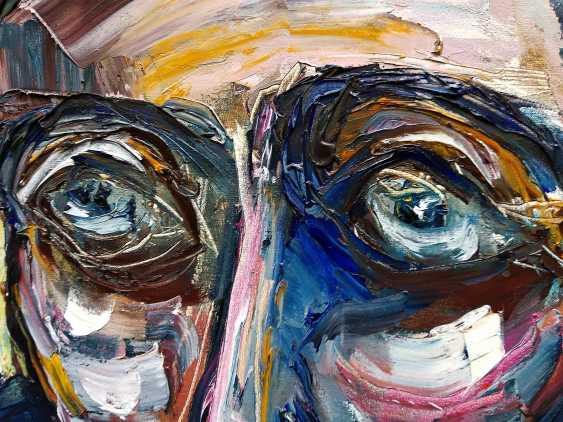 Ashot Aleksanian. Abstract - expressive spot on the basis of a portrait - photo 3