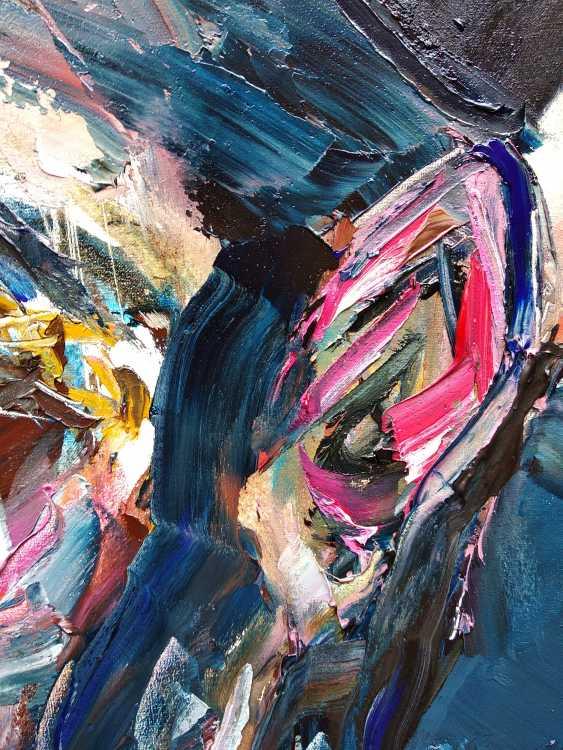 Ashot Aleksanian. Abstract - expressive spot on the basis of a portrait - photo 4
