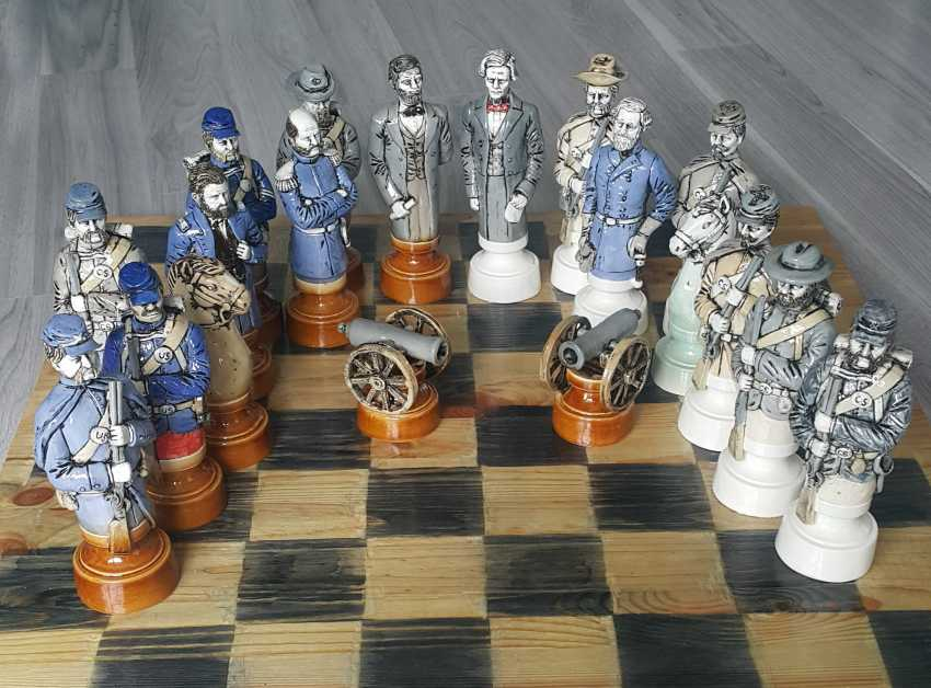 "Denis Korzun. Chess set ""Civil war"" - photo 1"