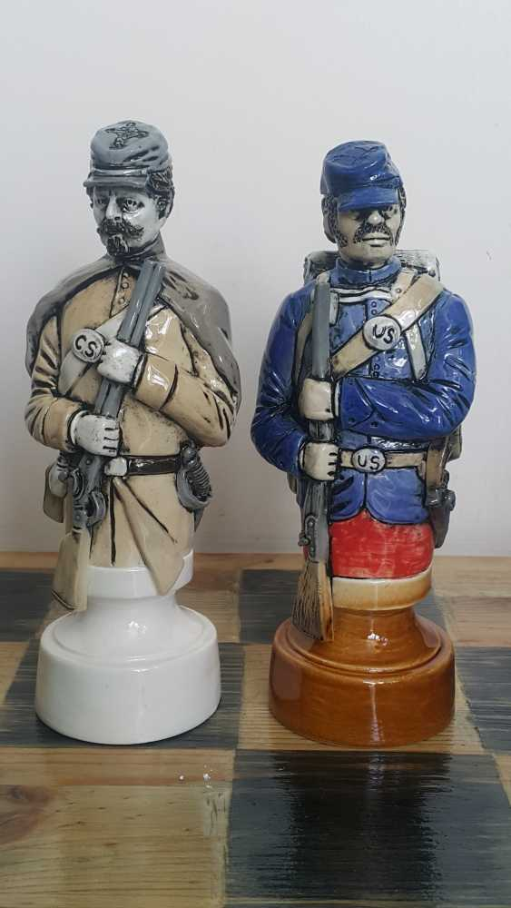 "Denis Korzun. Chess set ""Civil war"" - photo 3"
