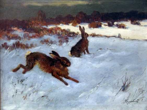 "EMANUEL HAGENBERG OF ""WINTER LANDSCAPE WITH HARES"" - photo 1"