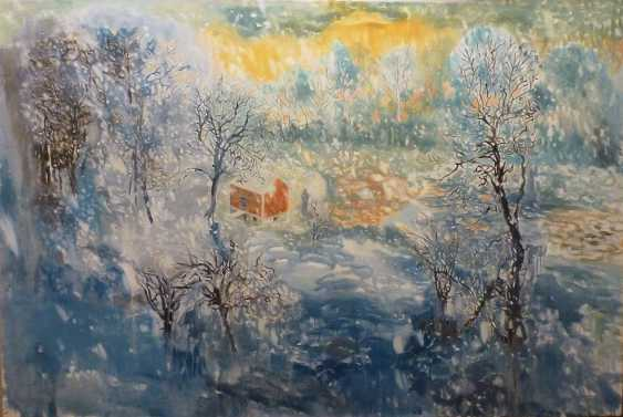 Olga Berezyuk. snowy day on the river - photo 1