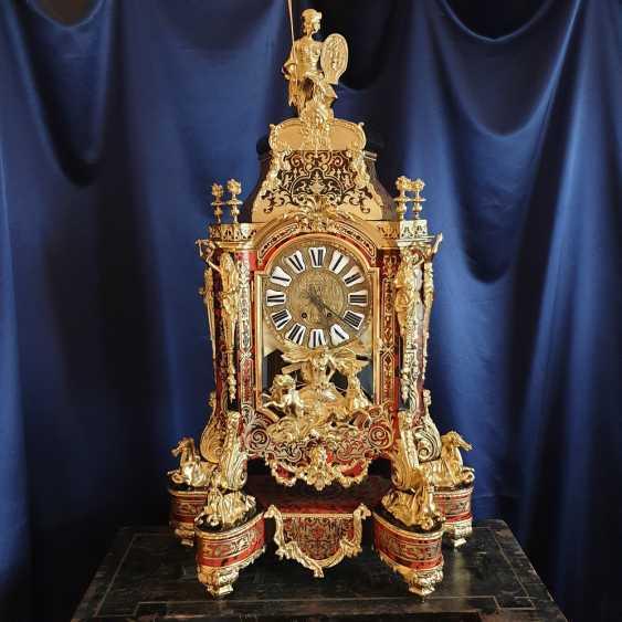 часы Буль / Boulle, вт. пол. XIX века, после профессиональной реставрации - фото 1