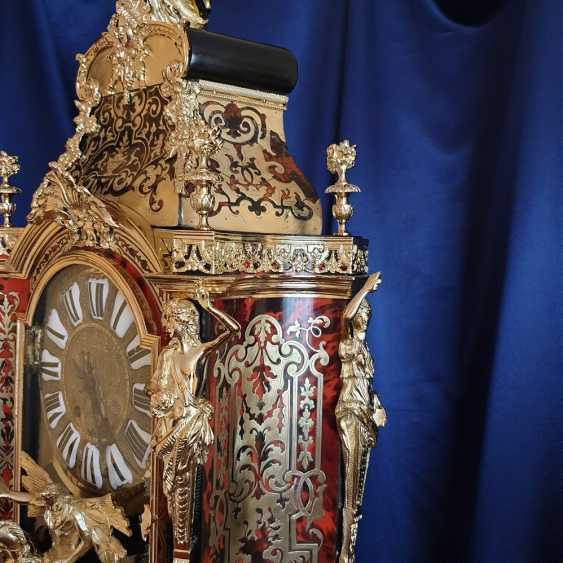 часы Буль / Boulle, вт. пол. XIX века, после профессиональной реставрации - фото 3