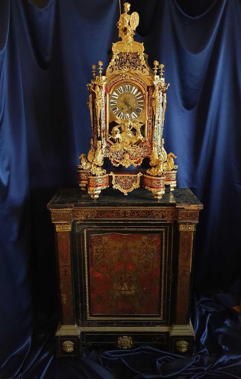 часы Буль / Boulle, вт. пол. XIX века, после профессиональной реставрации - фото 4