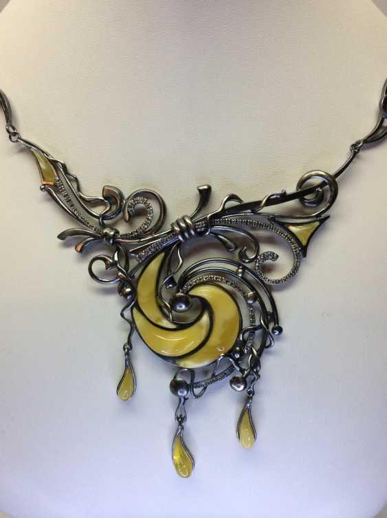 "Konstantin Domichkovskiy. Set of jewelry ""Amberocean"" - photo 4"