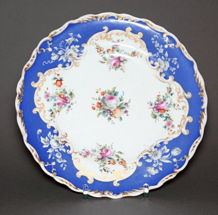 Plate.factory Gardner 1840 - 1850 - ies, porcelain, - photo 1