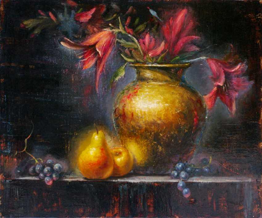 Nataliia Bahatska. Still Life with Lilies and Pears - photo 1