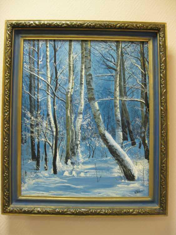 """Sergei Zabelin. La peinture """"conte d'Hiver"""" - photo 1"""