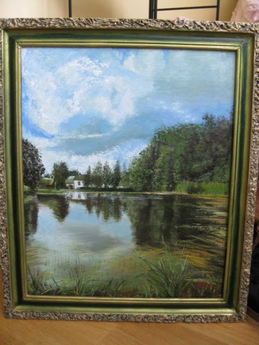 "Sergei Zabelin. Picture ""Overgrown pond"" - photo 1"