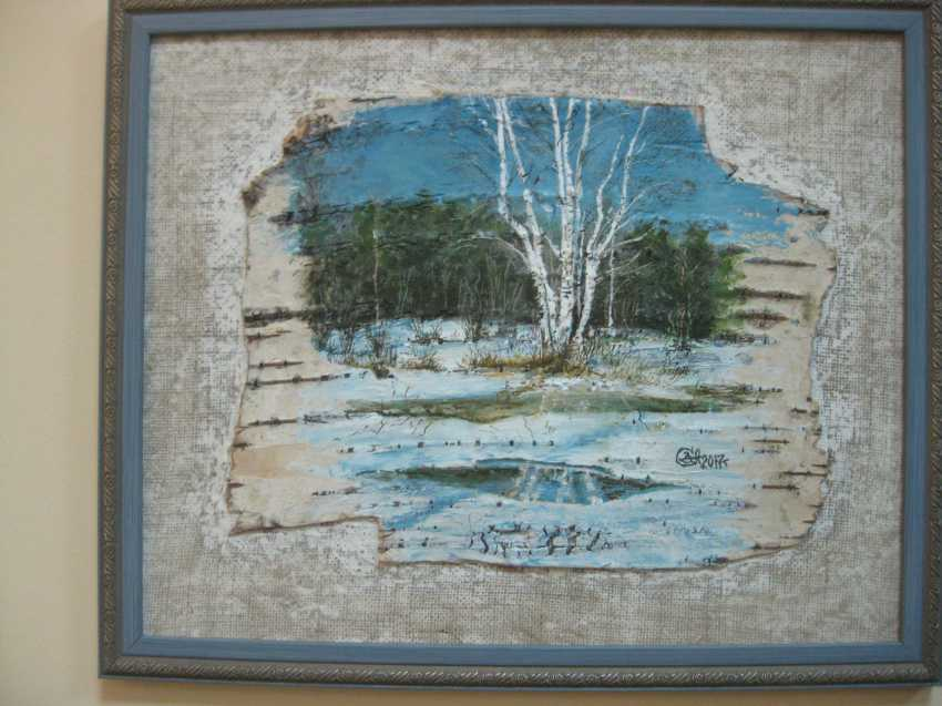 "Sergei Zabelin. The painting ""birches Umiliata"" - photo 1"