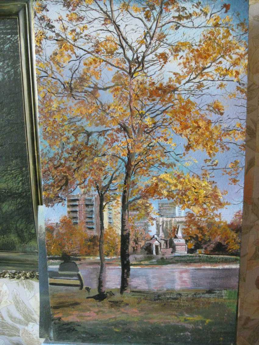 """Sergei Zabelin. The painting """"Autumn in the city"""" - photo 1"""
