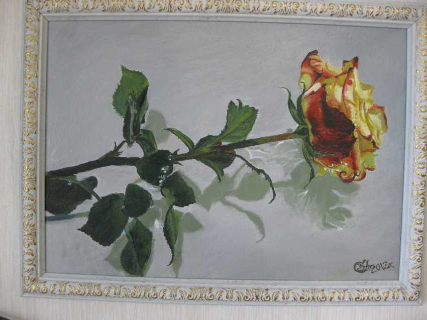"""Sergei Zabelin. The painting """"rose in water"""" - photo 1"""