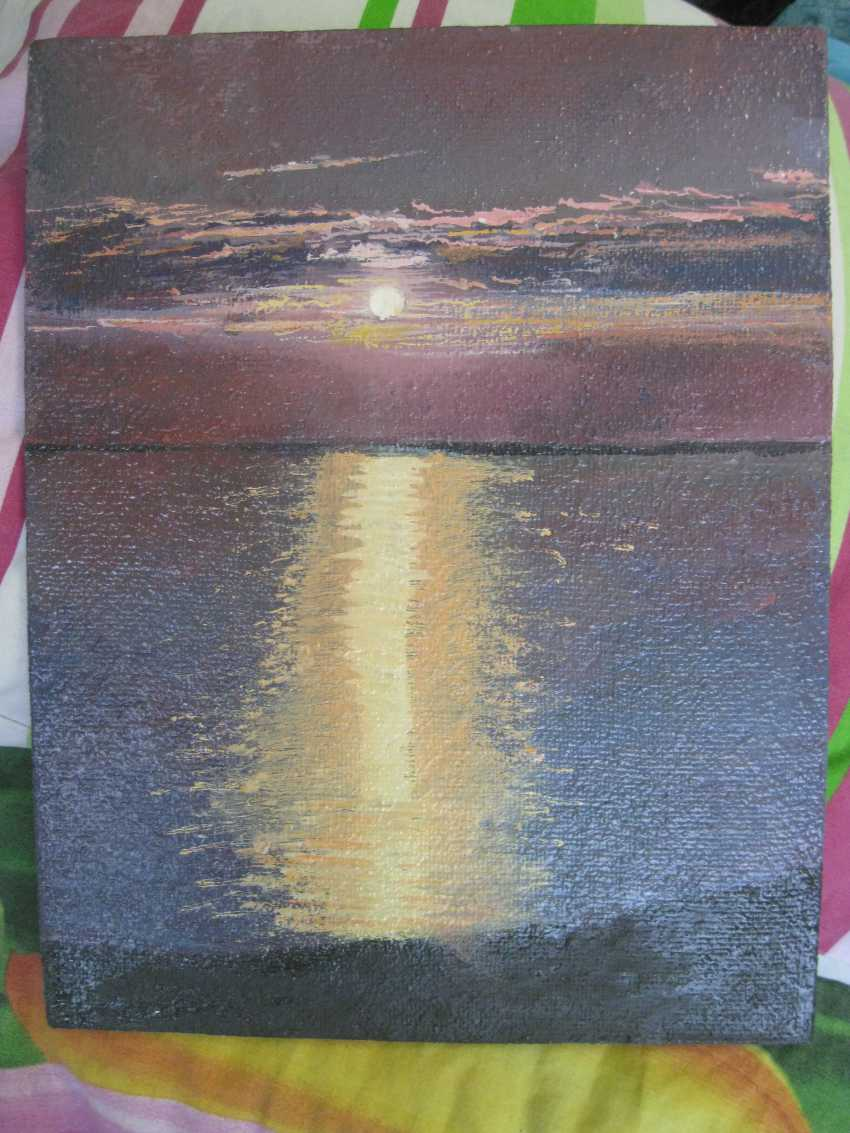 "Sergei Zabelin. The painting ""Sunset over sea"" - photo 1"
