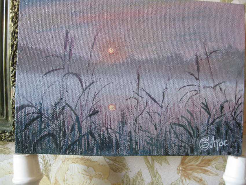 "Sergei Zabelin. Picture ""the evening dawn"" - photo 1"