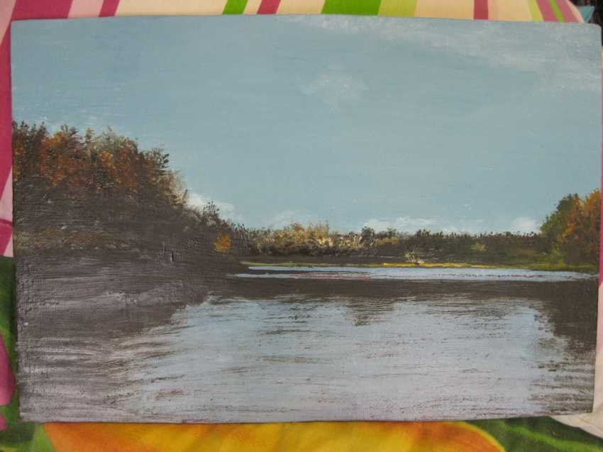 "Sergei Zabelin. The painting ""autumn Lake"" - photo 1"