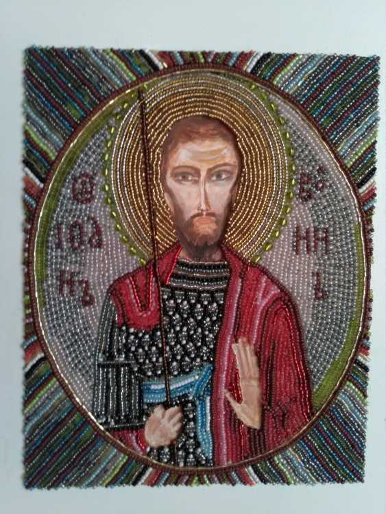 Olga Hoptinich. icon of St. John the Warrior - photo 1