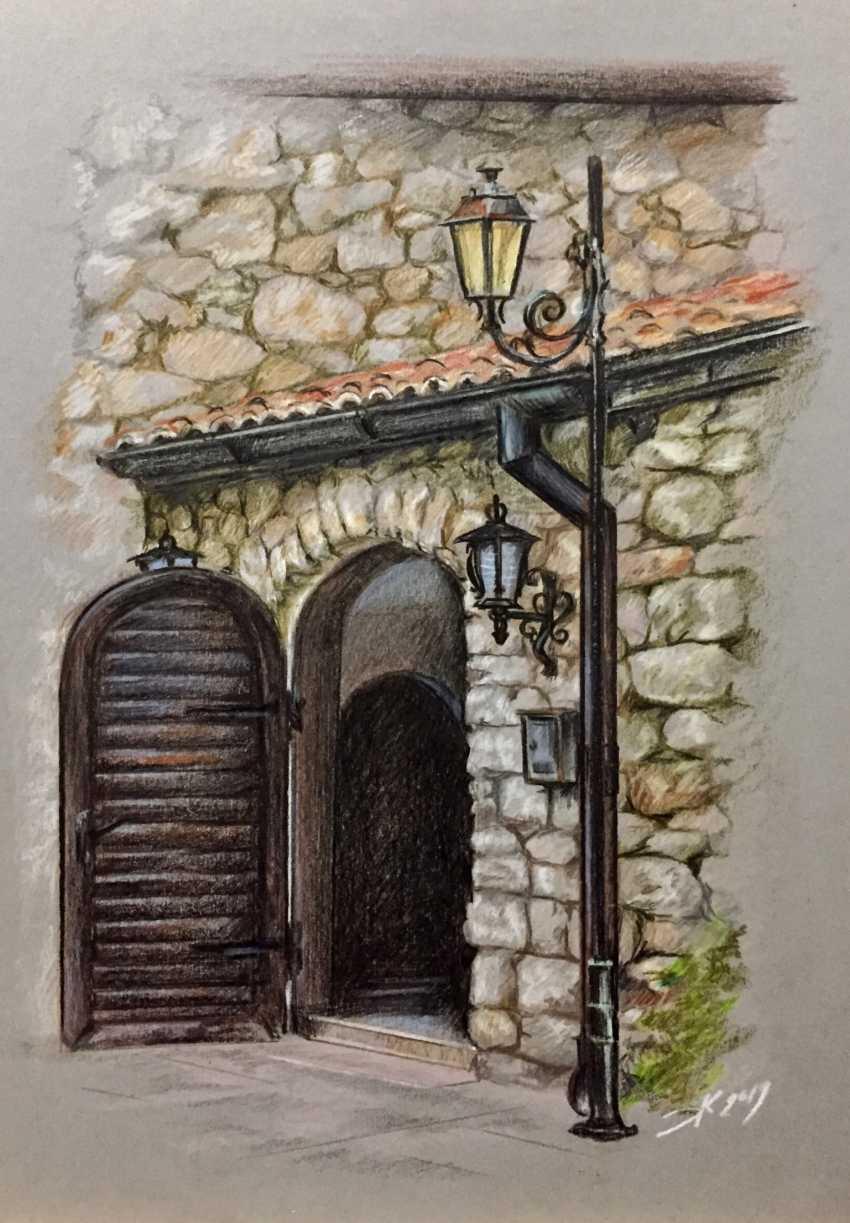 """Evgeny Karpenko. """"Nessebar,old door"""" - photo 1"""