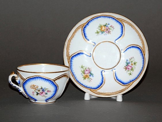 "A couple of tea""Cabbage leaf"", grade N-II and A-III, porcelain, - photo 1"