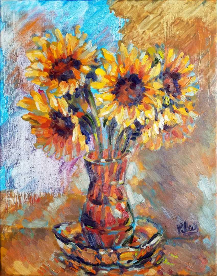 Alex Klas. Sunflowers by the window - photo 1