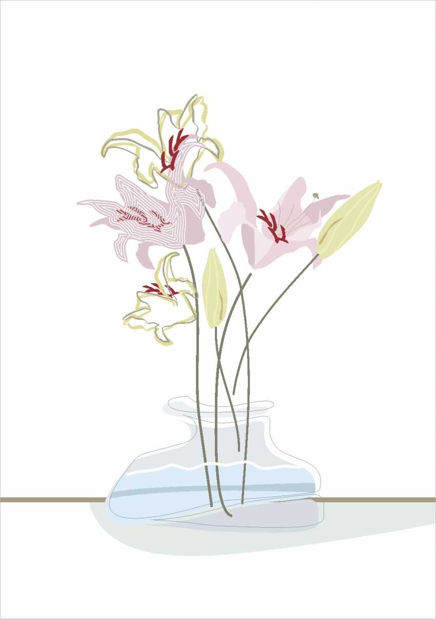Alyona Vesselova. A bouquet of lilies in a vase - photo 1