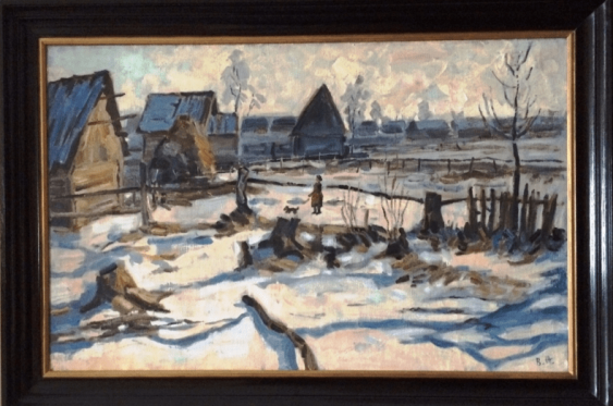 "The painting ""the Beginning of winter in Polesie"" - photo 1"