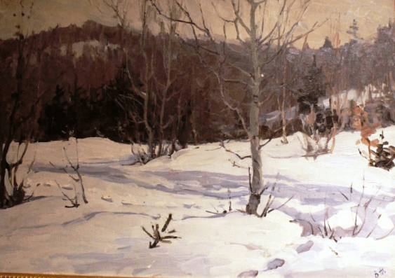 """The painting """"MARCH"""". Zholtok V. K. - photo 1"""