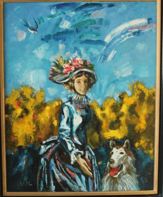 """The painting """"a walk in the 19th century"""" - photo 1"""