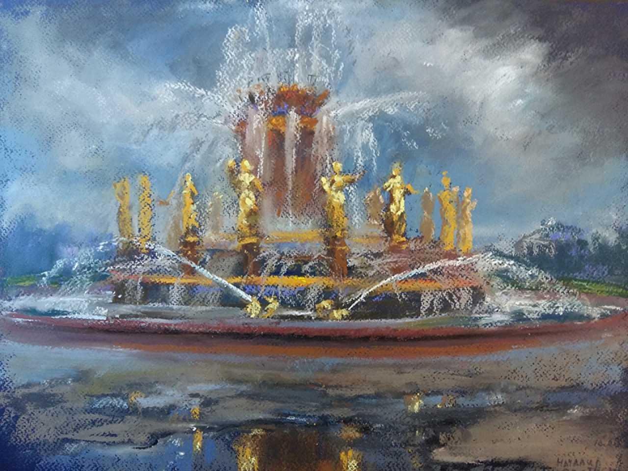 Seotitlegalereya Rabota Hudozhnika Nataliya Protchenko Peintre Moscow Luchshie Hudozhestvennye Proizvedeniya Kotorye V Prodazhe 20766 La Fontaine De L Amitie Des Peuples