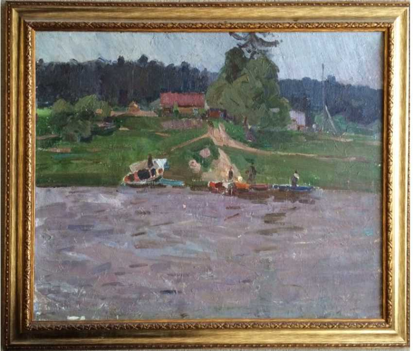 "Crealev P. S. - ""Evening on the Western Dvina river"" - photo 2"