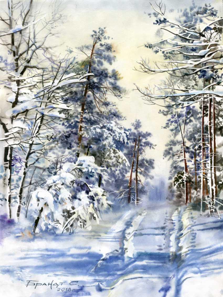 Sergey Brandt. Road in winter forest. - photo 1