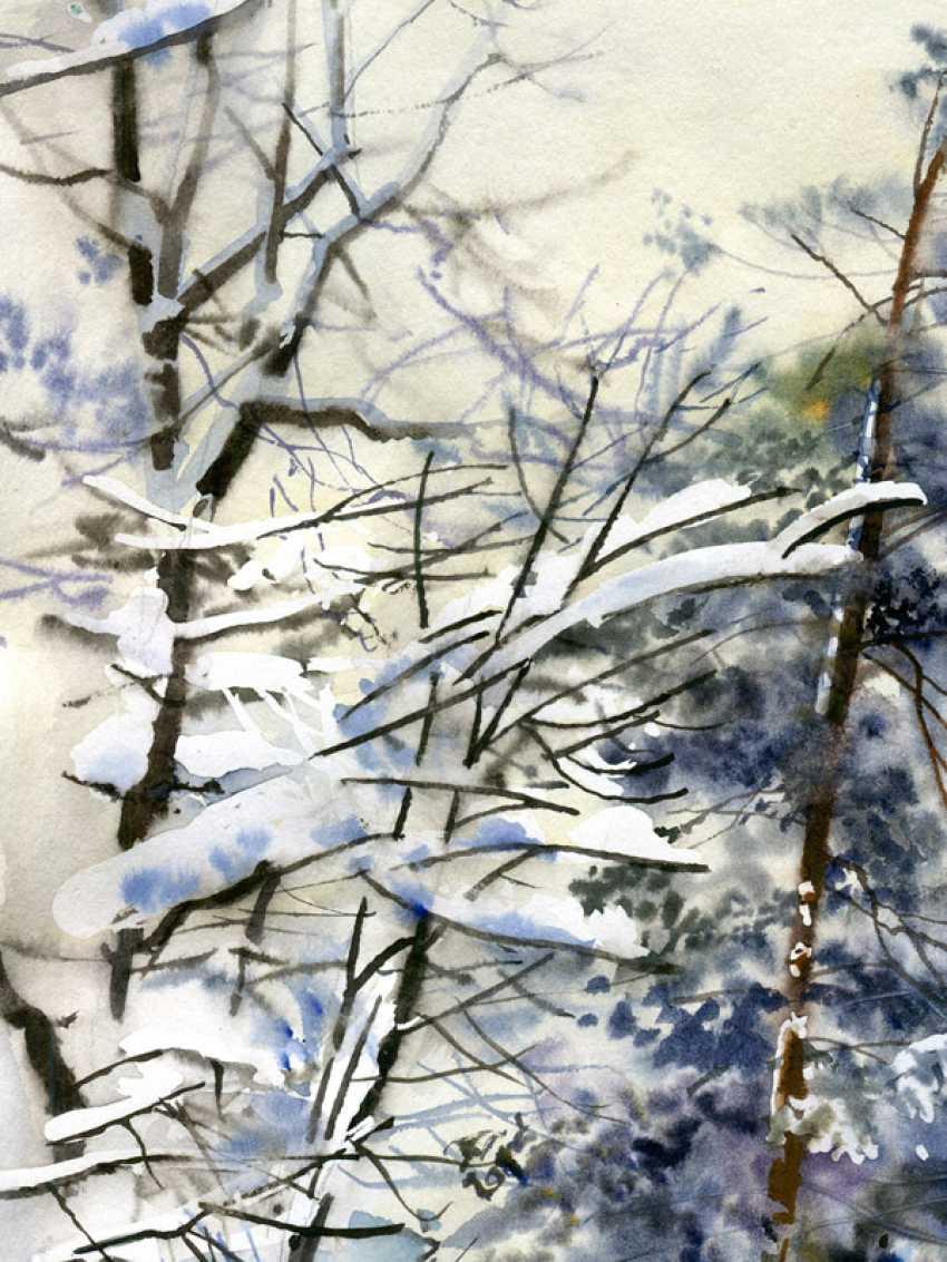 Sergey Brandt. Road in winter forest. - photo 2