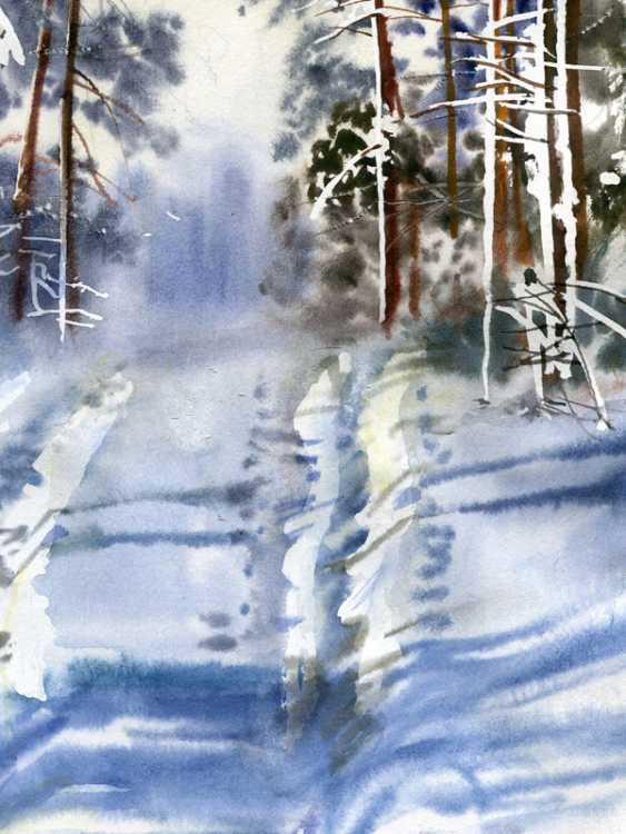 Sergey Brandt. Road in winter forest. - photo 3