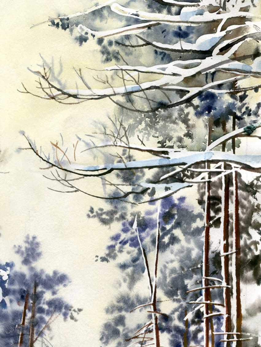 Sergey Brandt. Road in winter forest. - photo 4