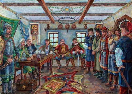 Oleg Lytvynenko. Die Befragung der Gefangenen. Episode Конотопской Schlacht. - Foto 1