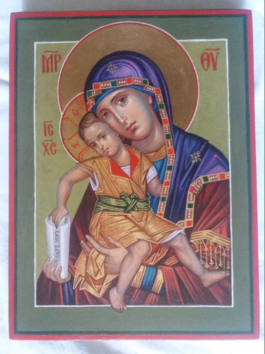 """Slava Nikityuk. The Icon Of The Mother Of God The Merciful Mother Of God Of Kykkos. """"It Is Truly Meet"""" - photo 9"""
