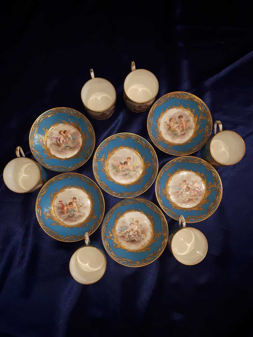 Porcelain coffee set, France of the XIX century. - photo 2