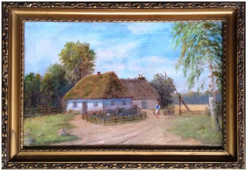 "The Painting ""The Farm"". J. Zakrzewski - photo 1"