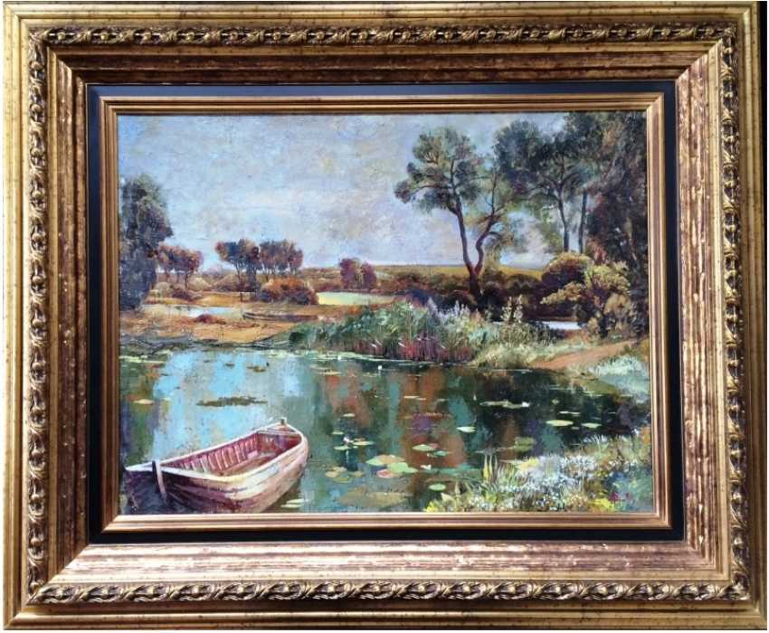 """Picture """"Old pond"""". Russia. Nach. 20V - photo 1"""