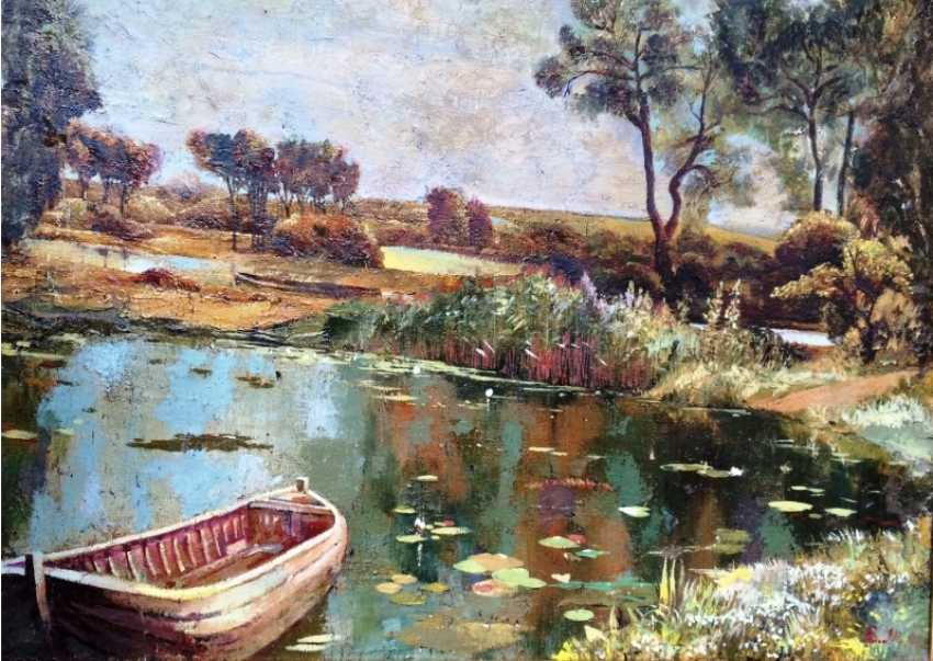 """Picture """"Old pond"""". Russia. Nach. 20V - photo 4"""