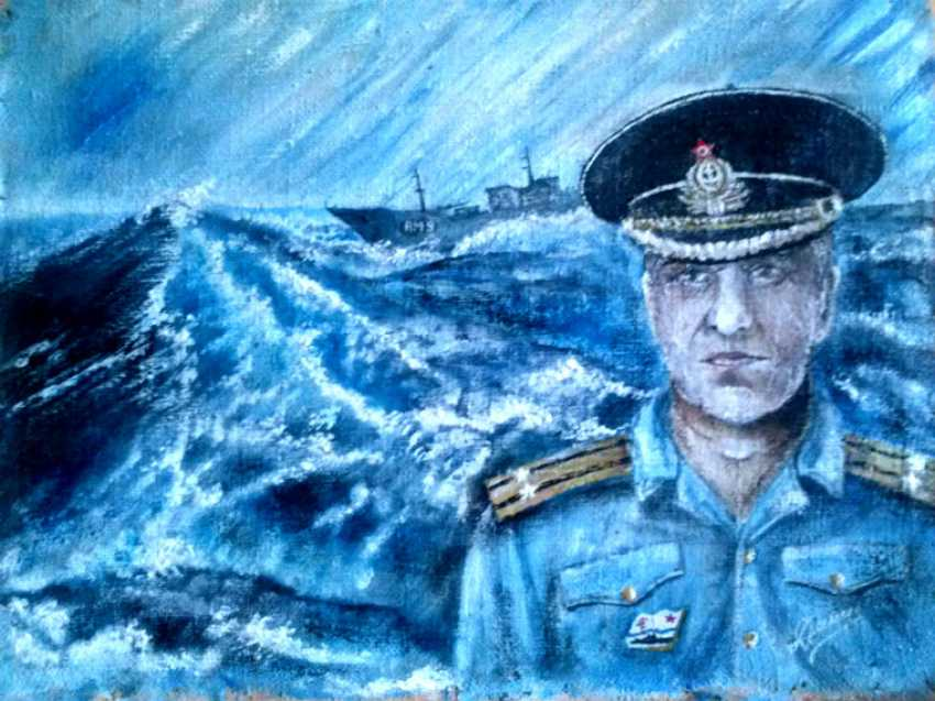 Alik Danilov. Portrait of captain 2nd rank Savochkin - photo 1