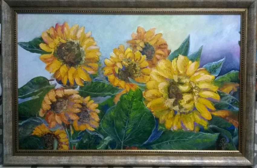 "VOLHA RAMEIKA. 1551. The Painting ""Sunflowers"" - photo 1"